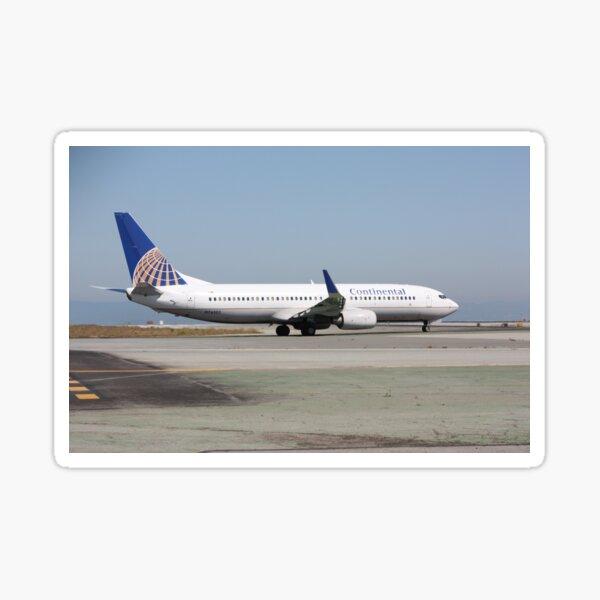 Continental Airlines Boeing 737 Sticker
