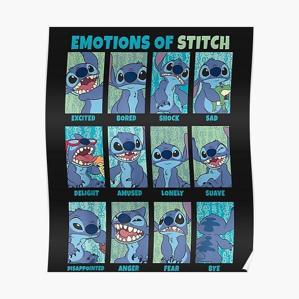 Lilo & Stitch Emotions Of Stitch Panels  Poster