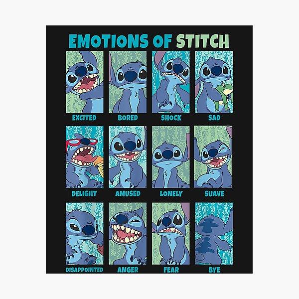 Lilo & Stitch Emotions Of Stitch Panels  Photographic Print