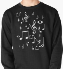 Music notes Pullover