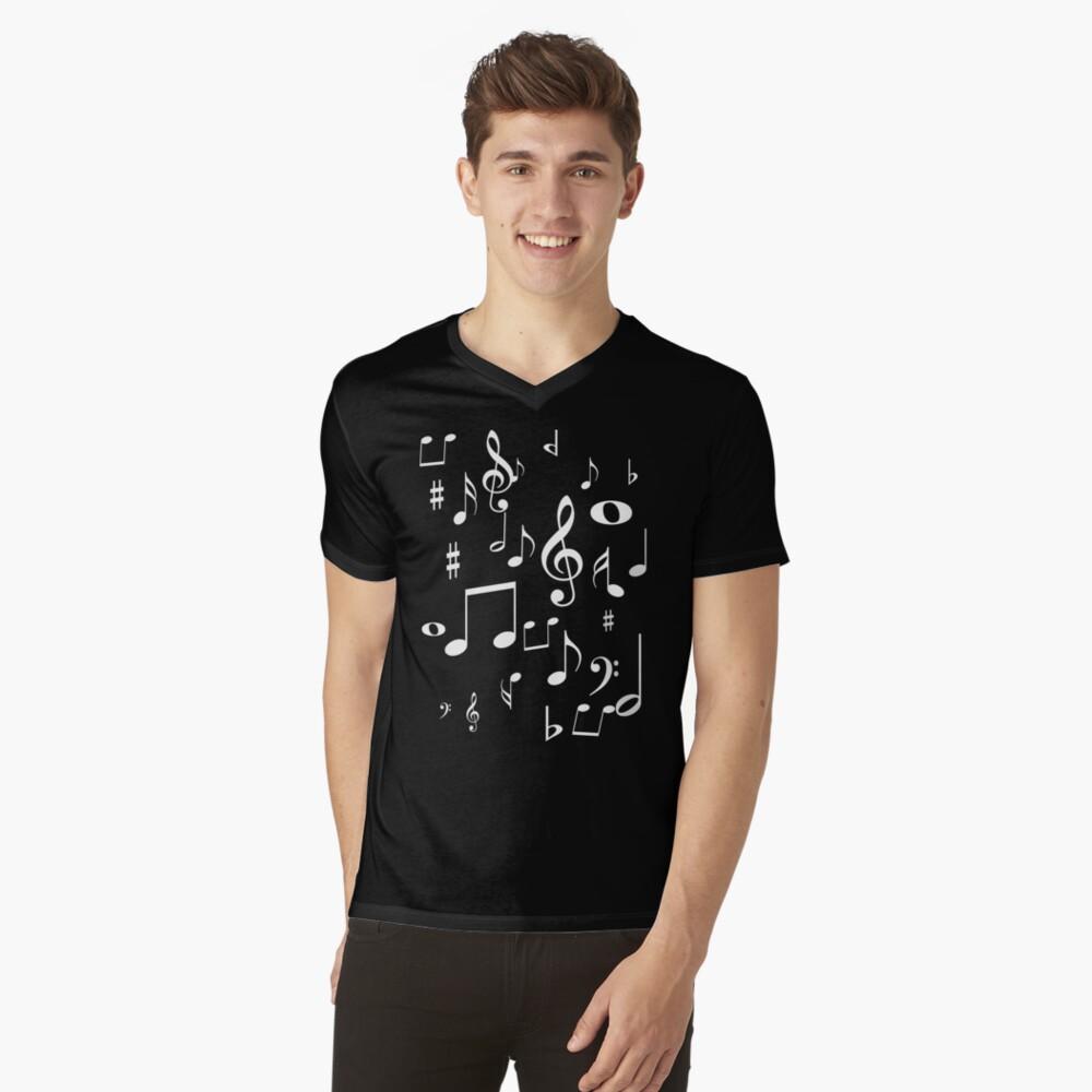 Music notes V-Neck T-Shirt