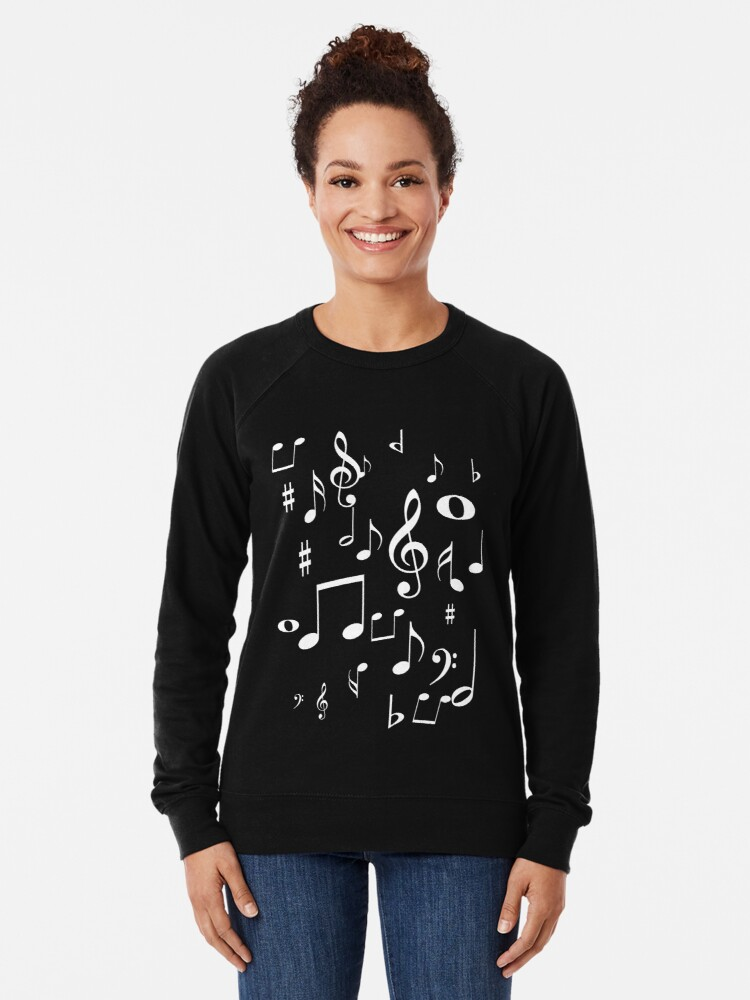 Alternate view of Music notes Lightweight Sweatshirt