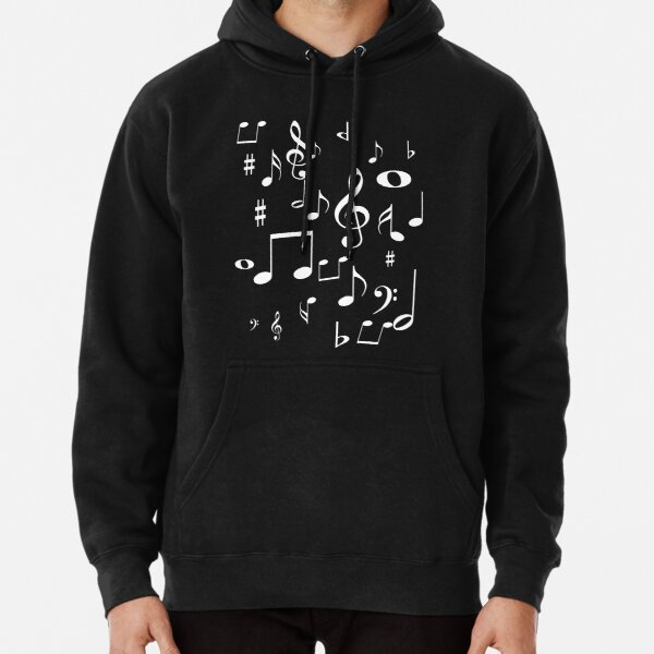 Music notes Pullover Hoodie