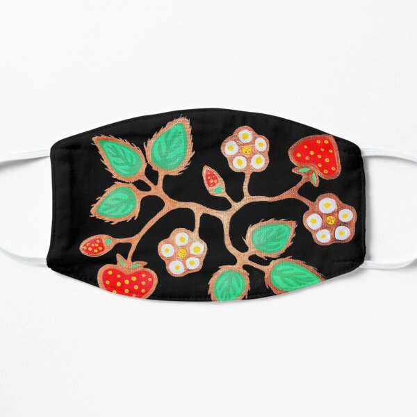 Strawberries Flat Mask
