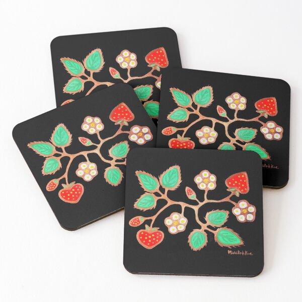 Strawberries Coasters (Set of 4)