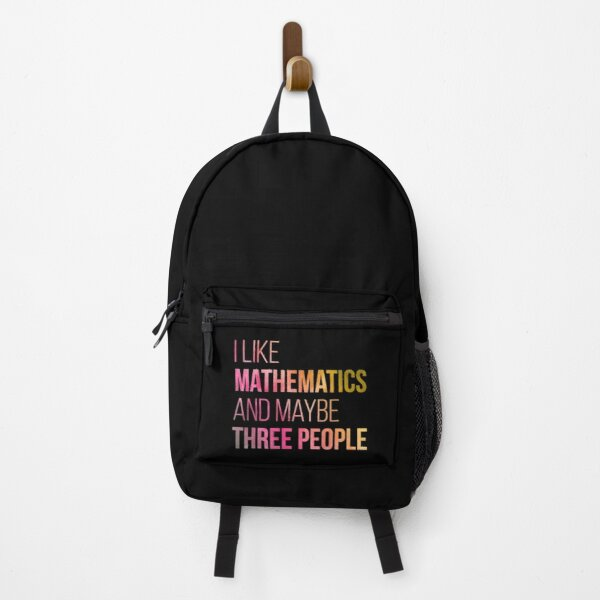 I like Mathematics and maybe three People in Watercolor Backpack