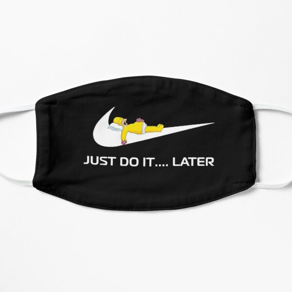 Parody Logo Just Do It Later Mask