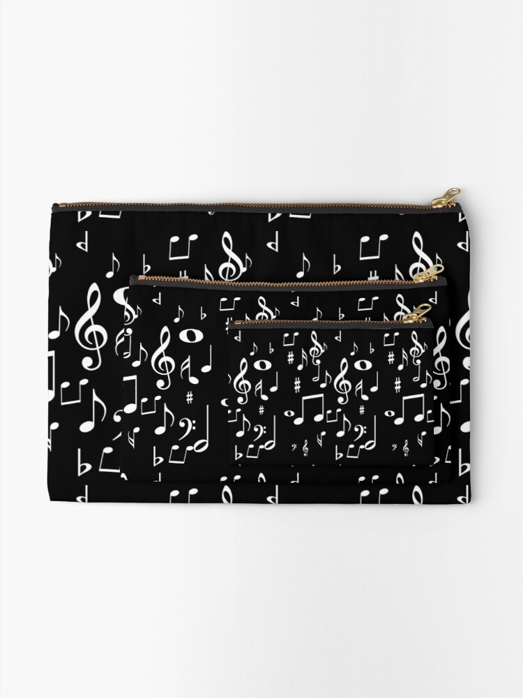 Alternate view of Music notes Zipper Pouch