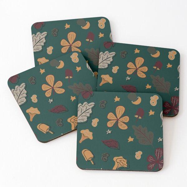 autumn motives. Seamless pattern. Coasters (Set of 4)