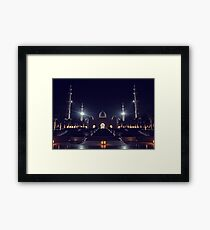 Zayed Grand Mosque Entrance Framed Print