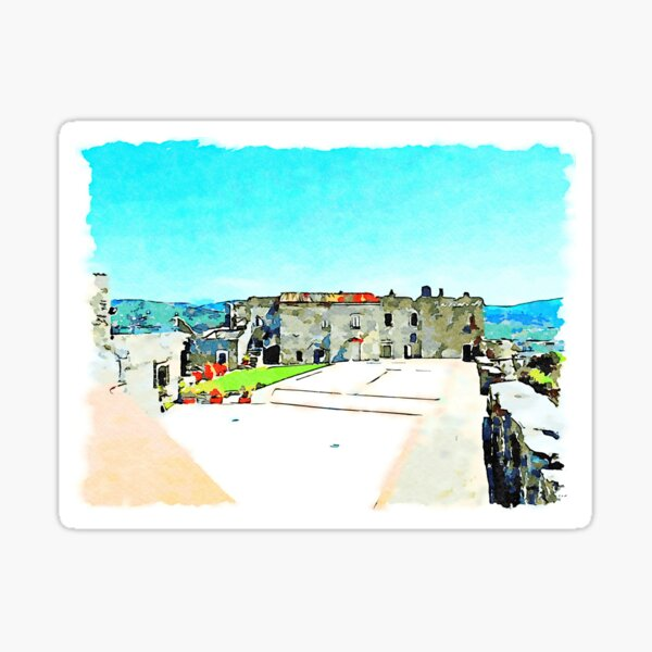 Parade ground of the castle of Agropoli Sticker