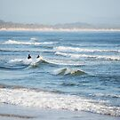 Byron Surfers  by Jenny Dean
