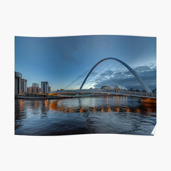 Millennium Bridge Newcastle Poster
