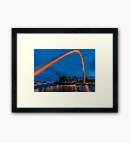 Gateshead at Night Framed Print