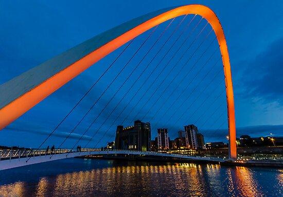 Gateshead at Night by Trevor Kersley