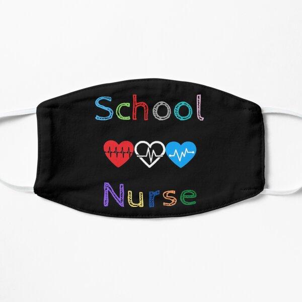 School Nurse Colorful Hearts Face Mask Mask