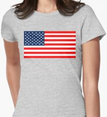 Flag of the United States of America Womens Fitted T-Shirt