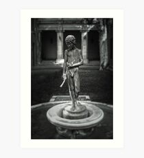Courtyard Sculpture Art Print