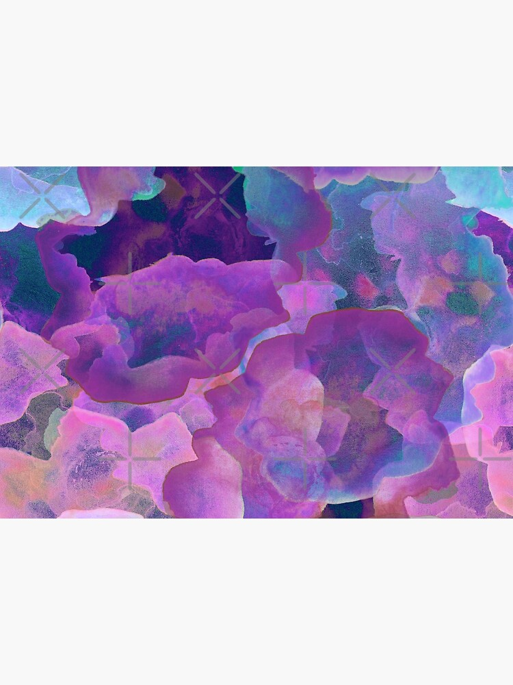 festival purple, boho, teal and purple abstract ink watercolor  clouds by MagentaRose