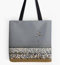 Snow Geese in Fog Tote Bag