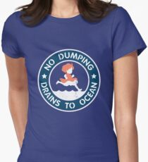 Seaside Signage Women's Fitted T-Shirt