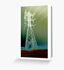 Powerlines Greeting Card