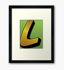 Half Tone L Framed Print