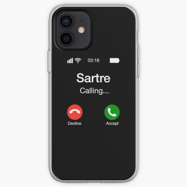 Sartre Calling - Funny Philosophy Phone iPhone Soft Case