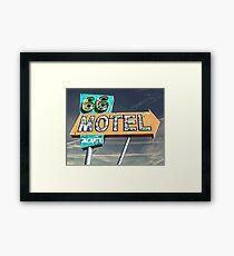 Motel 66 Framed Print