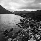 Rocky Shore of the River Conon by kernuak