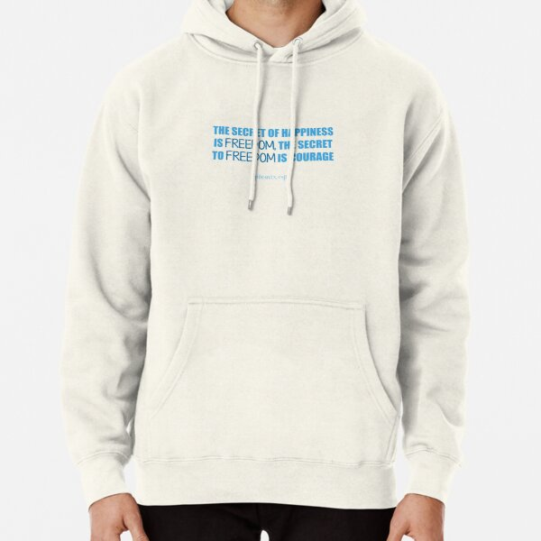 Freedom Cup Quote Pullover Hoodie
