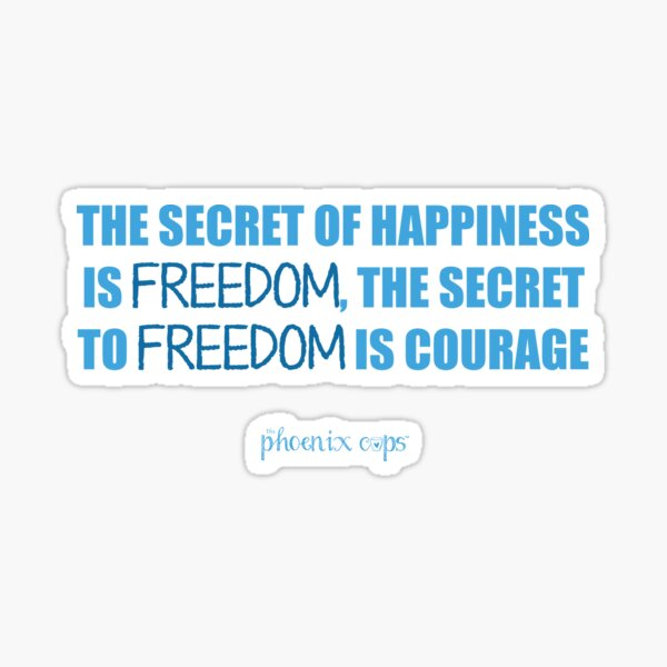 Freedom Cup Quote Sticker