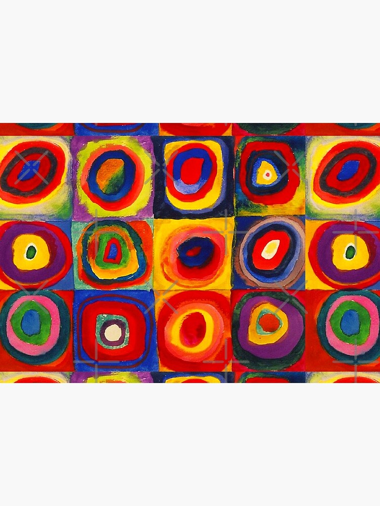 Kandinsky Color Study Squares With Concentric Circles by SuperAceDesigns