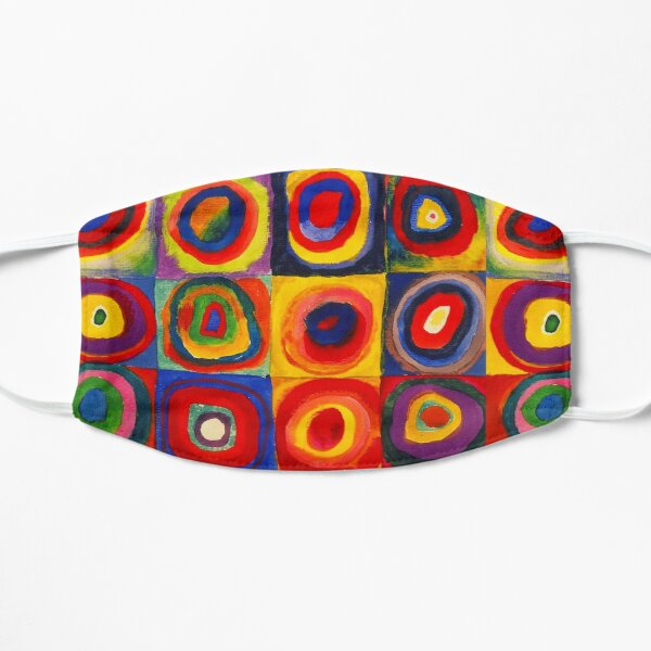 Kandinsky Color Study Squares With Concentric Circles Flat Mask