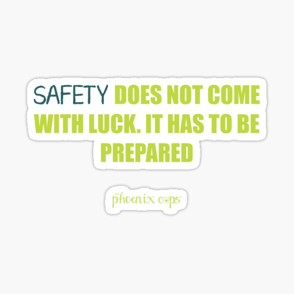 Safety Cup Quote Sticker