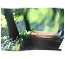 Imressionist Woodland - The Path Poster