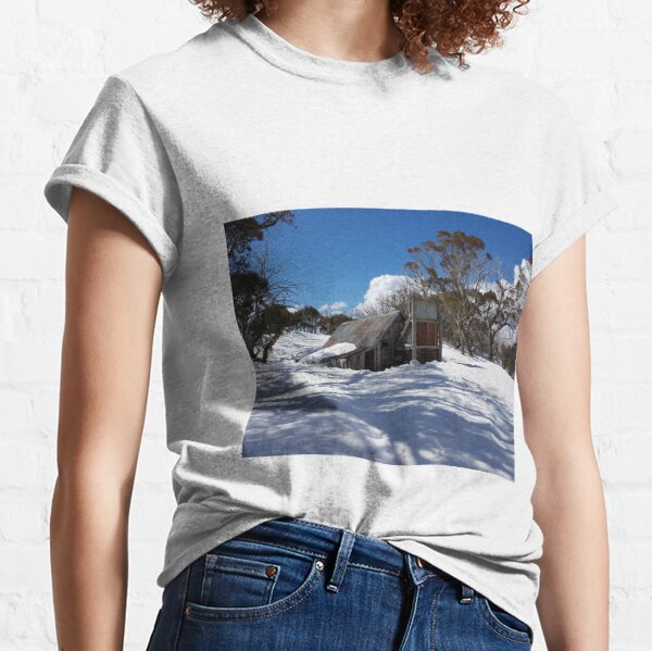 Wallace Hut Under Snow Classic T-Shirt