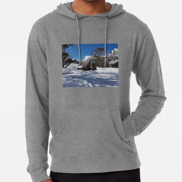 Wallace Hut Under Snow Lightweight Hoodie