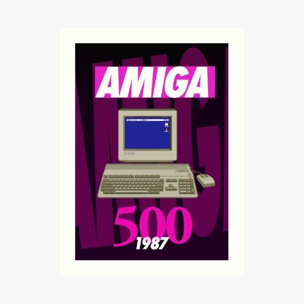 Cartel de Amiga 500 (1980 Wild Dark) - Pixel Art Original de Pixel Vixen Lámina artística