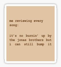 Jonas Brothers Fan Sepia Sticker