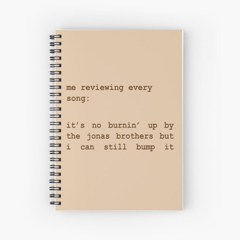 Burning Up Sepia Spiral Notebook