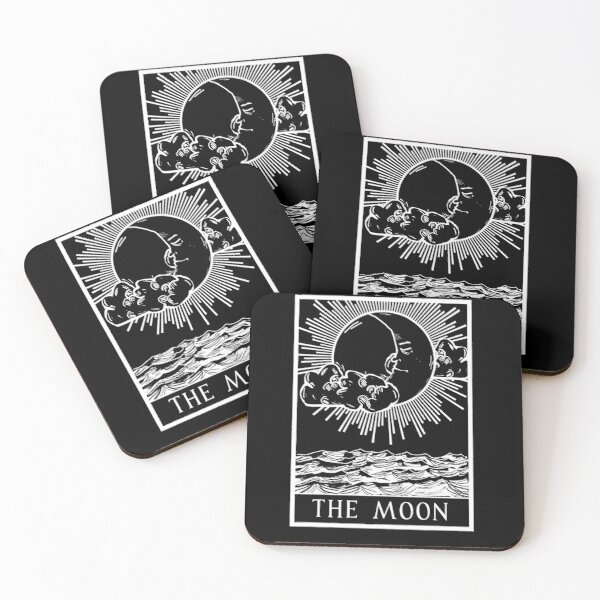 THE MOON - Tarot Series (W) Coasters (Set of 4)