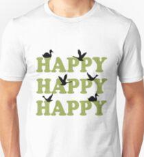 Green Digital Camo Happy Happy Happy Unisex T-Shirt