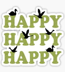 Green Digital Camo Happy Happy Happy Sticker