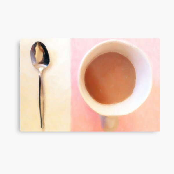 Coffee with spoon Metal Print