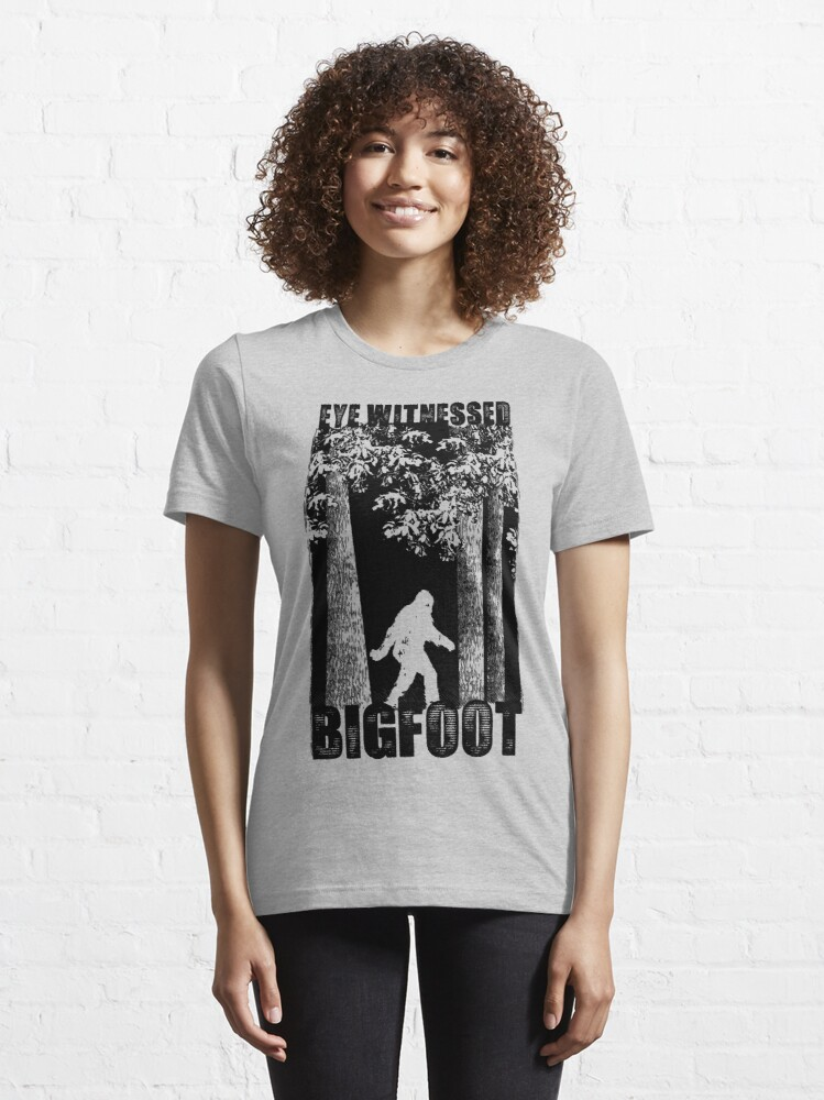 Alternate view of Eye Witnessed Bigfoot Essential T-Shirt