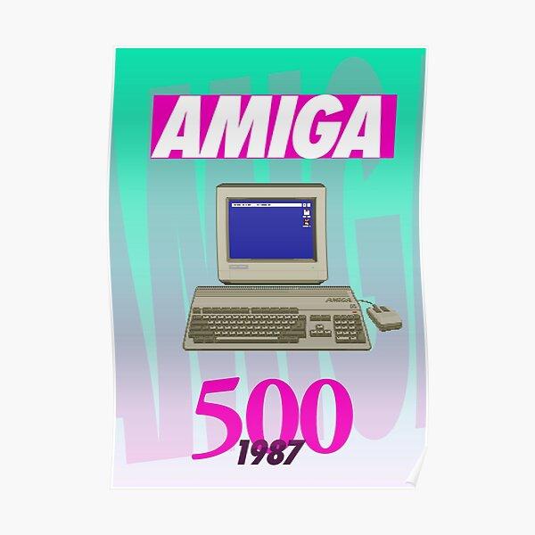Amiga 500 Poster (1980s Wild Light) - Pixel Art Original by Pixel Vixen Poster