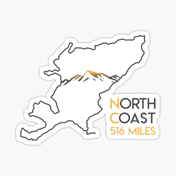 North Coast 500 Driving Route Map | Scotland | NC500 | 516 Miles Sticker
