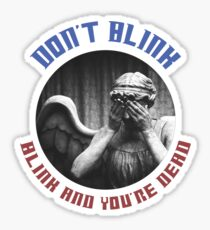 The Weeping Angel Tee  Sticker
