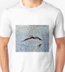Pelican Flying Over Water T-Shirt